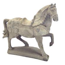 Tan War Horse Statue