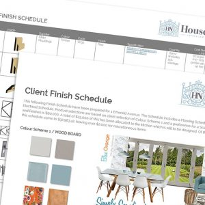 Housenote Finish Schedule