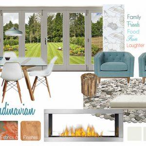 Housenote Scandinavian Family Room