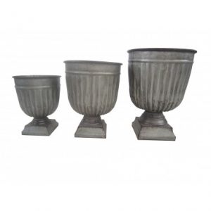 Housenote Trio of Rustic Urns